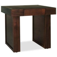 Bentley Designs Akita Walnut Square 1 Drawer Side Table