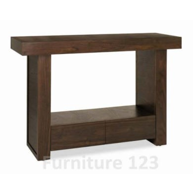 Bentley Designs Akita Walnut 2 Drawer Console Table