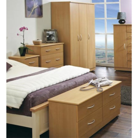 Welcome furniture stratford 5 piece bedroom furniture set for Beech bedroom furniture