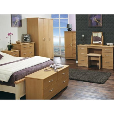 Welcome furniture stratford 8 piece bedroom furniture set for Beech bedroom furniture