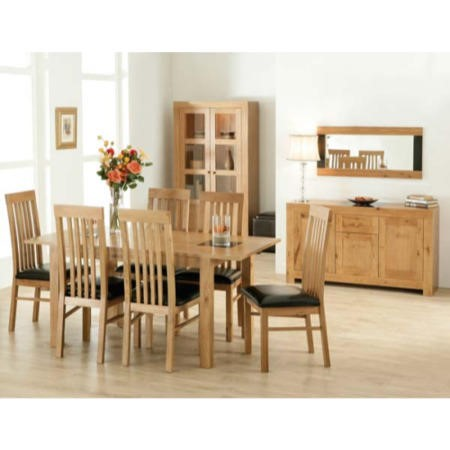 acre oak 10 piece dining room furniture set with slat back