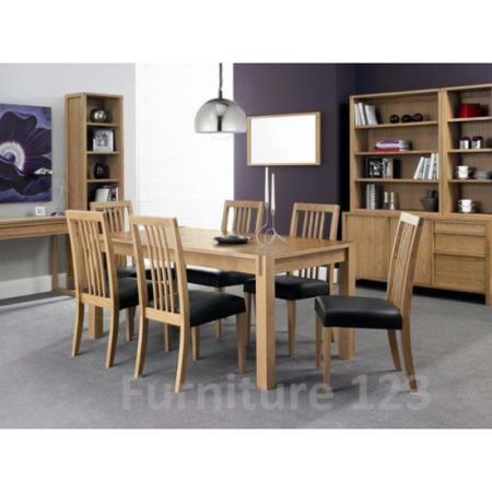 studio solid oak large dining room furniture set