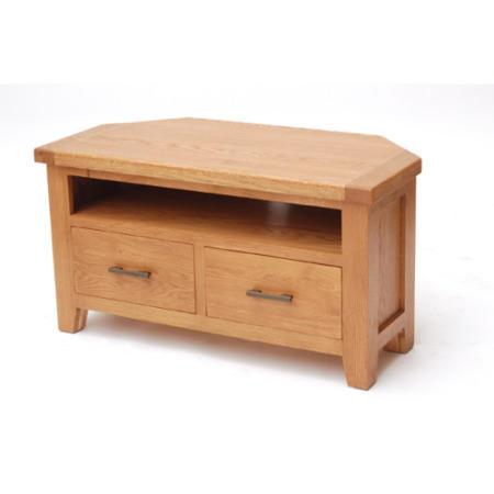 a0b323be2e29a Furniture Link Hampshire Oak Corner TV Cabinet FOL072907