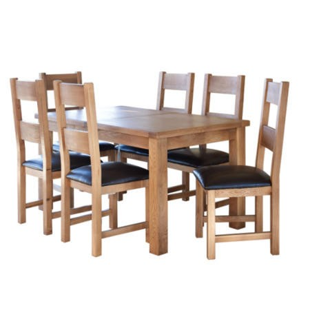 d3701df055d6d Furniture Link Hampshire Oak Large Rectangular Extending Dining Table  FOL072920