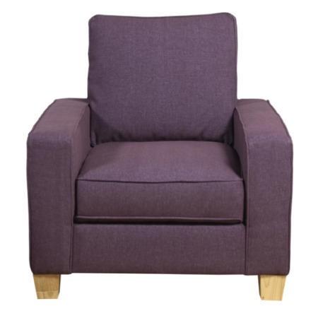 Kyle Aubergine Armchair | Furniture123