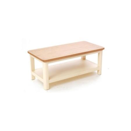 Malibu oak and cream coffee table furniture123 for Large cream coffee table
