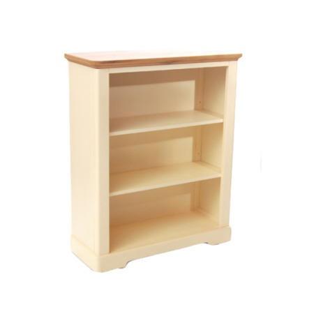 Malibu Oak And Cream Low Bookcase Furniture123