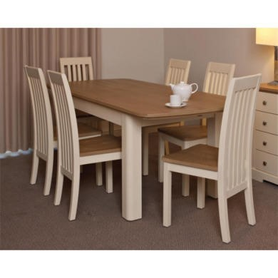 Malibu Oak and Cream Extending Dining Table