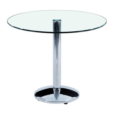 FOL073029 Furniture Link Orbit Clear Glass Dining Table