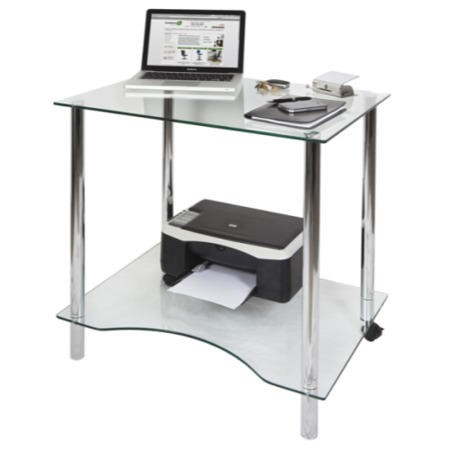Teknik Office Crystal Glass Workstation