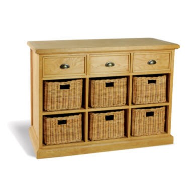savoy oak 6 basket 3 drawer sideboard furniture123