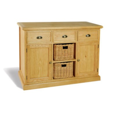 Savoy Oak 3 Drawer 2 Door 2 Basket Sideboard
