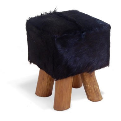 FOL073237 Signature North Bazaar Rawhide Square Small Stool