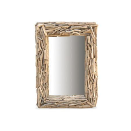 Driftwood Rectangular Mirror Furniture123