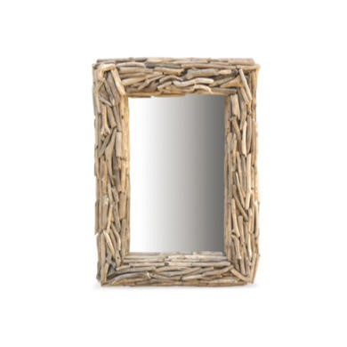 FOL073244 Driftwood Rectangular Mirror