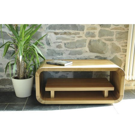 Signature North Retro Oiled Oak Low TV Stand