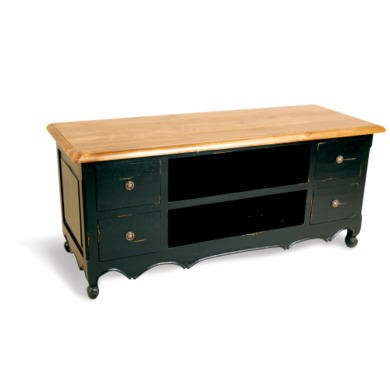 Signature North French Chic 4 Drawer TV Cabinet  antique black