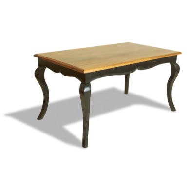 Signature North French Chic Dining Table  antique black