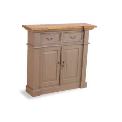 French Painted Small 2 Door 2 Drawer Sideboard - olive