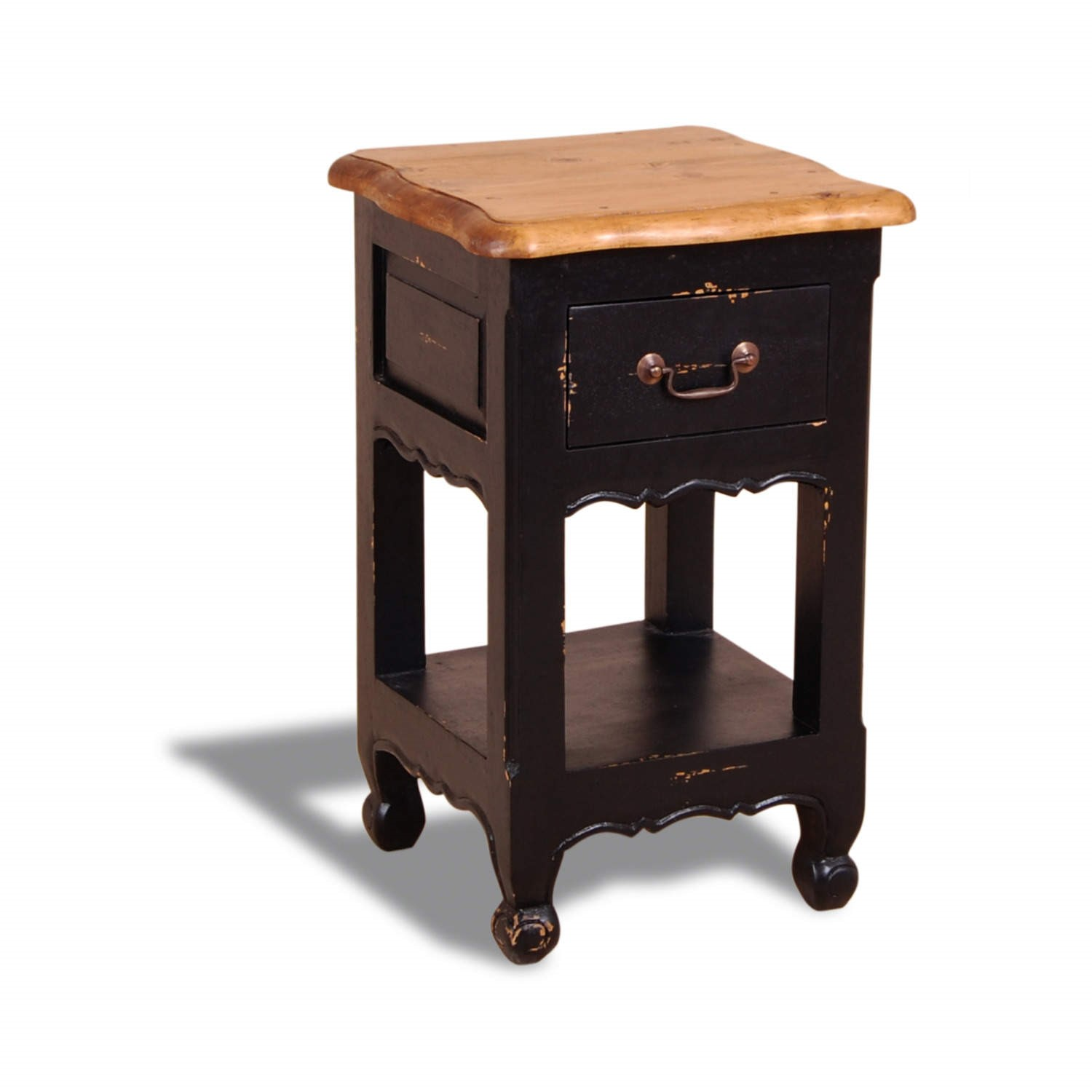French painted 1 drawer 1 shelf bedside table antique for 1 drawer bedside table