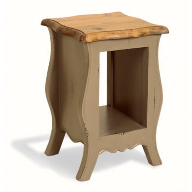 French Painted Monique Bedside Table - olive