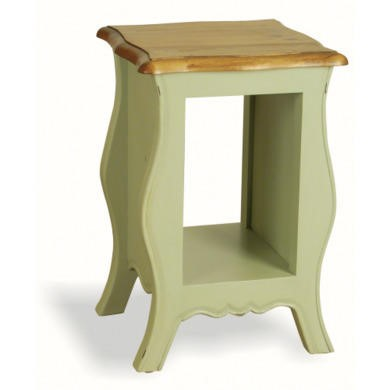 French Painted Monique Bedside Table - pale mint