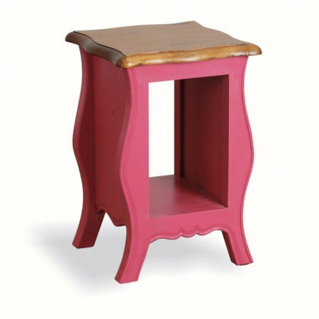 French Painted Monique Side Table Cerise Pink Furniture123
