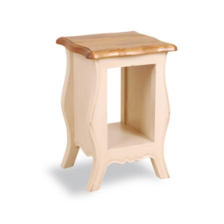 French painted monique bedside table plum furniture123 for Furniture 123
