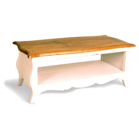French painted monique rectangular coffee table burnt for Orange coffee table