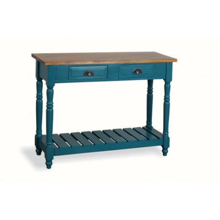 French Painted Medium 2 Drawer Slatted Console Table