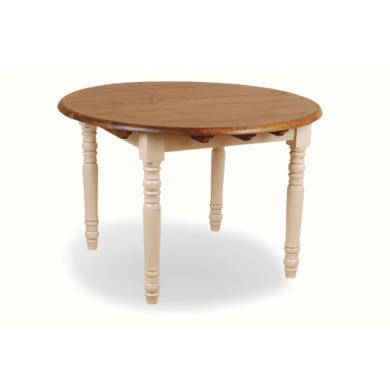 French painted round dining table cream furniture123 for Cream round dining table