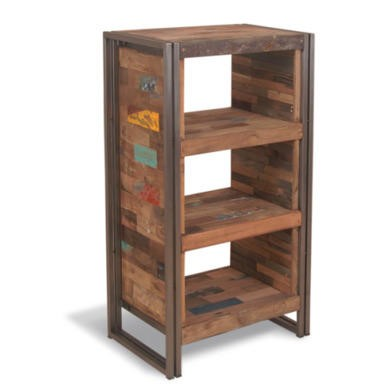 Recycled 3 Shelf Open Display Cabinet