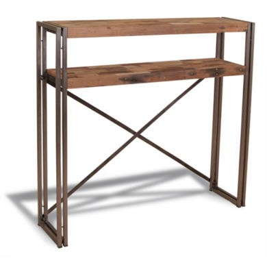 Recycled Cross Console Table