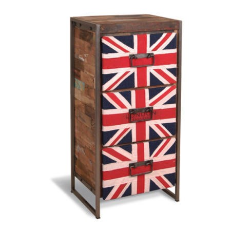 recycled union jack 3 drawer chest furniture123