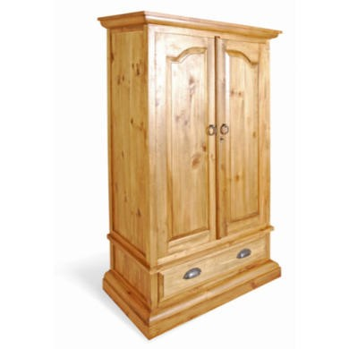 Classic Pine 2 Door 1 Drawer Regular Wardrobe