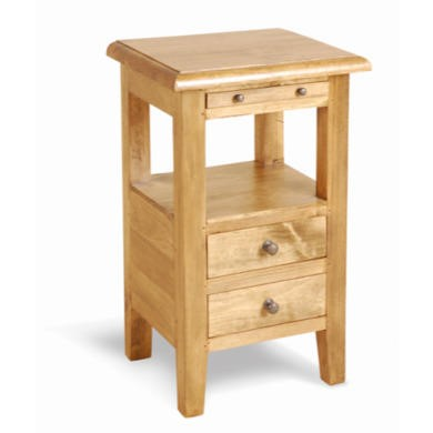 Classic Pine 2 Drawer Bedside Table