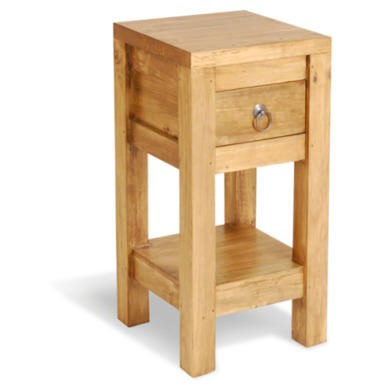 FOL074526 Signature North Retro Pine 1 Drawer Lamp Table