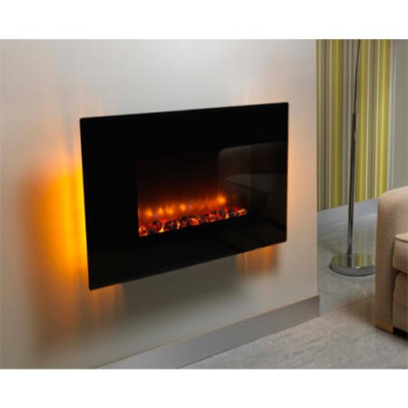 Be Modern Orlando 36 Inch Wall Mounted Curved Electric