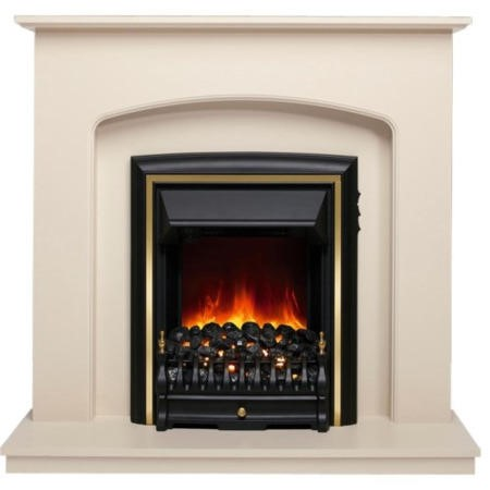 Be Modern Lusso Eco Electric Fireplace Suite in Ivory Effect