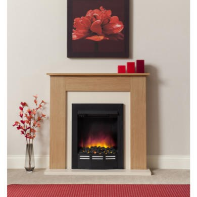 Be Modern Colston Oak Effect Electric Fireplace Suite