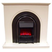 Be Modern Elmont White Finish Electric Fireplace Suite