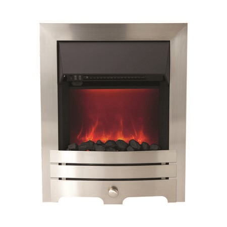 BeModern Enrico Electric Inset Fire in Chrome