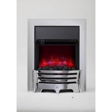 Be Modern Chrome Finish Electric Fire
