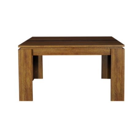 Sciae cemia square dining table in oak furniture123 for Table manger carree