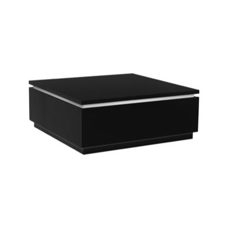 skylight electra high gloss coffee table in black with led