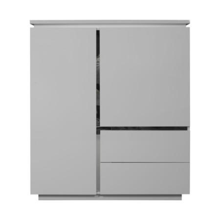 Sciae Electra High Gloss 2 Door 2 Drawer Cupboard