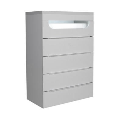 Sciae Opus White Gloss Chest of 5 Drawers