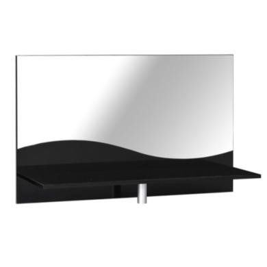 Sciae Strass Lacquered Black Gloss Chest Top Shelf with Mirror