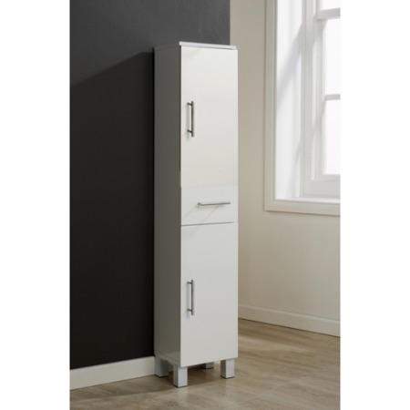 Mountrose Arctic High Gloss 2 Door 1 Drawer Bathroom Floor