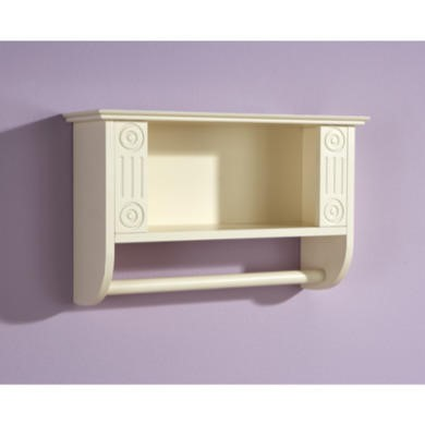 Mountrose Athens Cream Towel Rail with Shelf